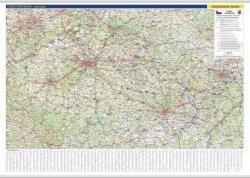 Detail nástěnné mapy ČR.