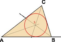 kružnice trojúhelníku vepsana