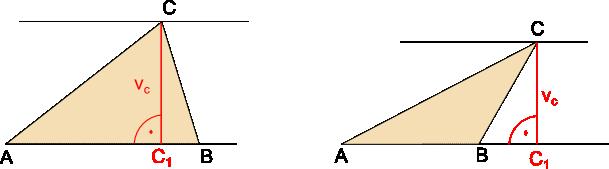 znázornění výšky trojúhelníku
